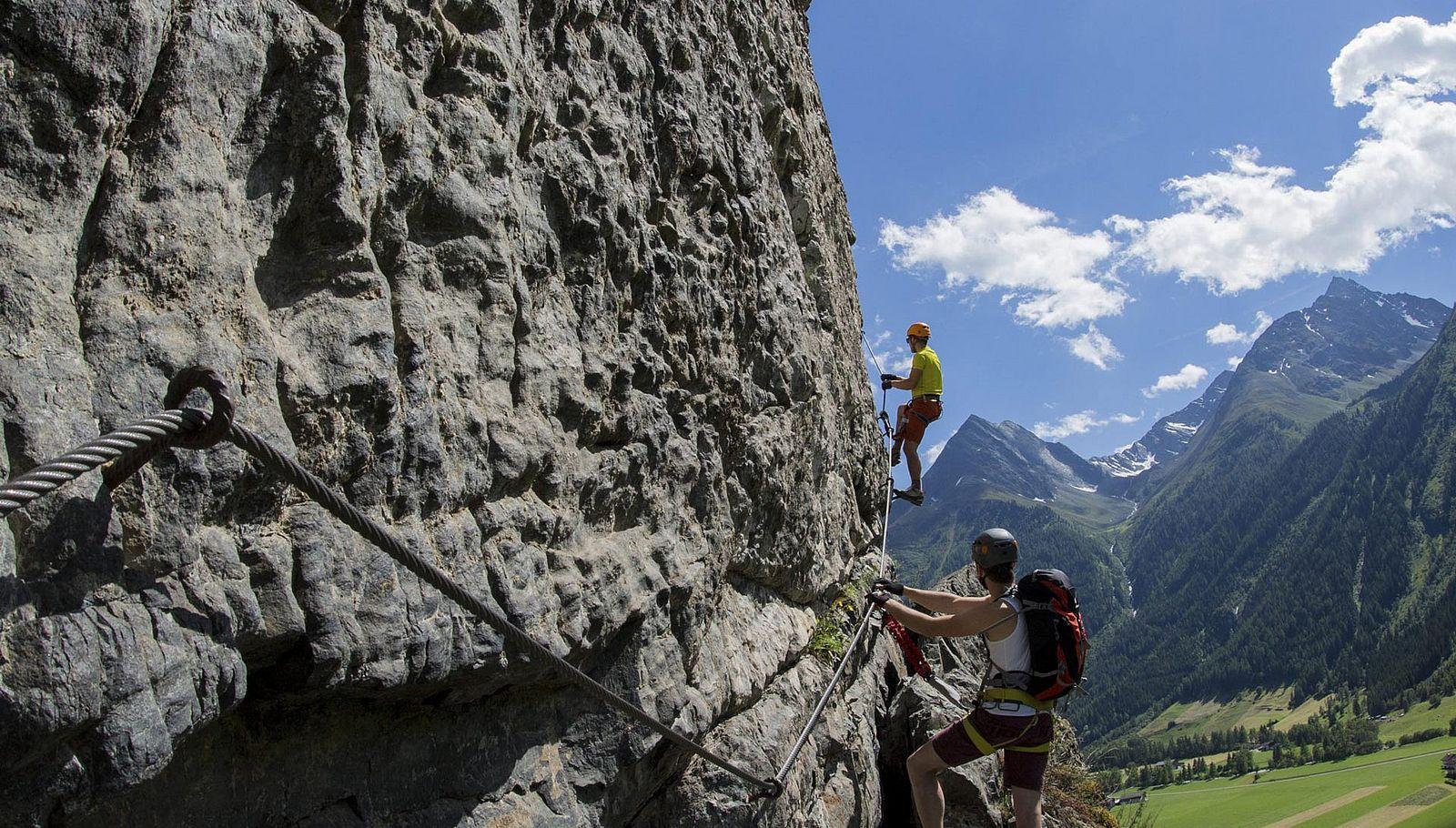 Sölden – das Kletterparadies im Ötztal. In Tirol.