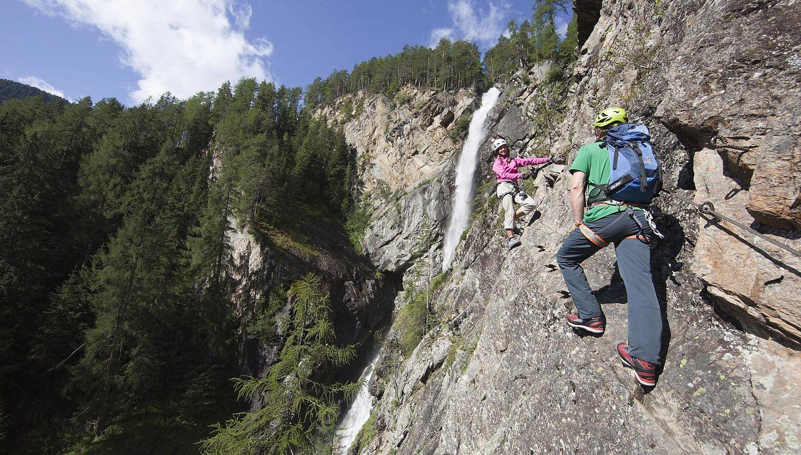 Höher, weiter, Fels – Klettern im Ötztal bedeutet Abenteuer