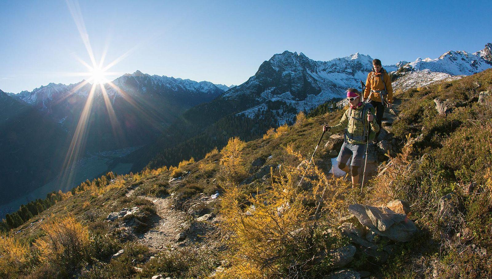 Neue Perspektiven im Sommer beim Wandern in Sölden